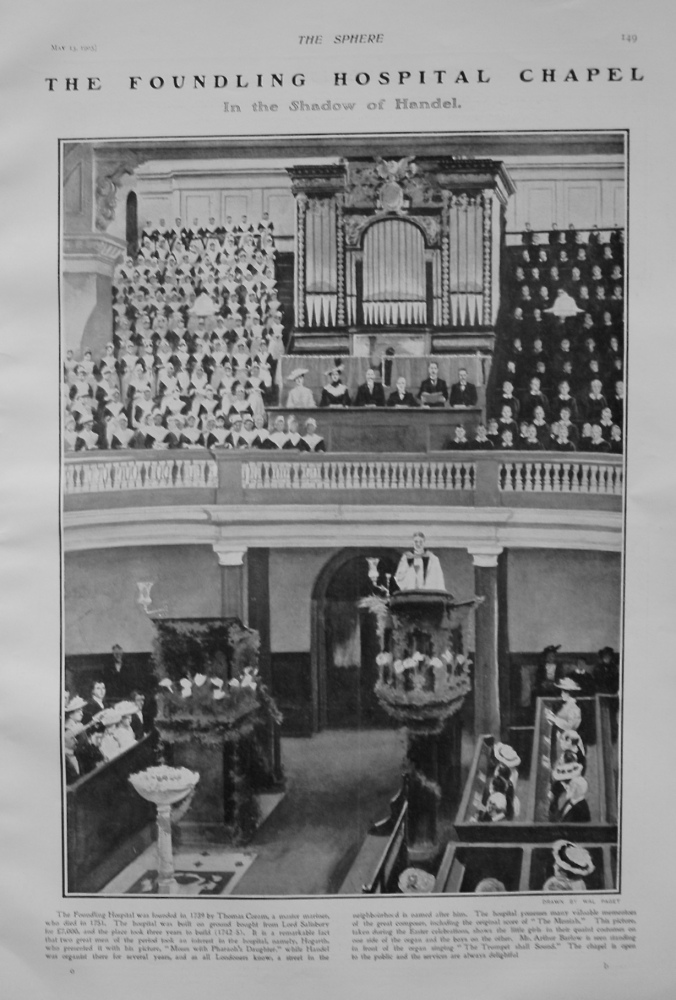 The Foundling Hospital Chapel. 1905