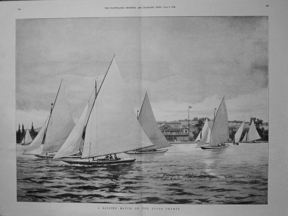 Sailing Match on the Upper Thames. 1899
