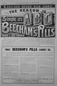 Beecham's Pills. July 1899.