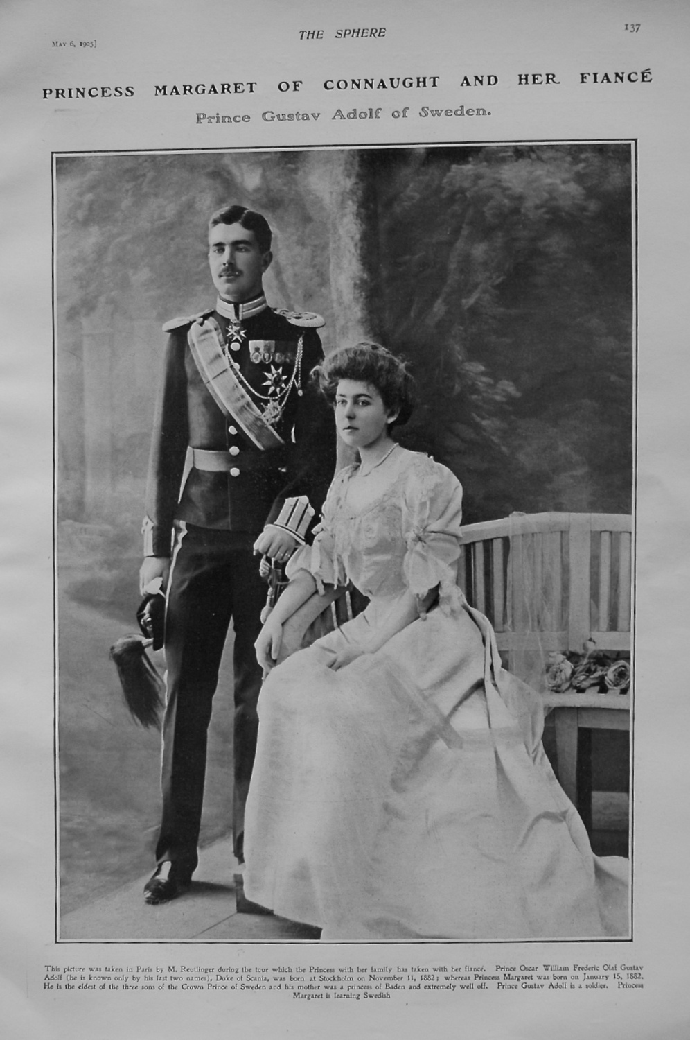 Princess Margaret of Connaught and Her Fiance Prince Gustav Adolf of Sweden