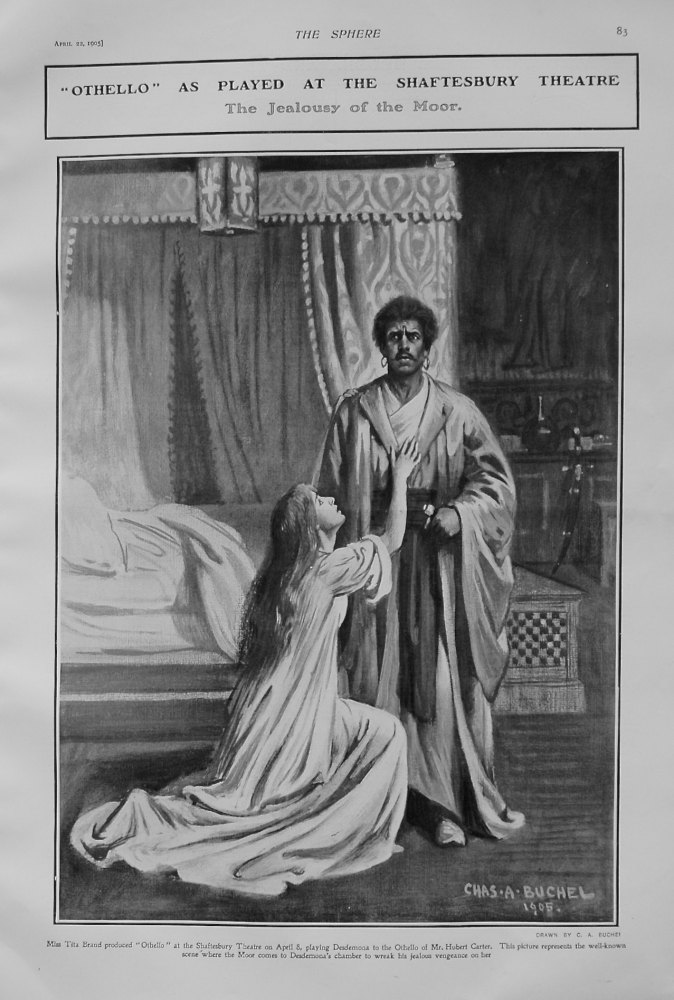 """Othello"" as Played at the Shaftesbury Theatre. 1905."