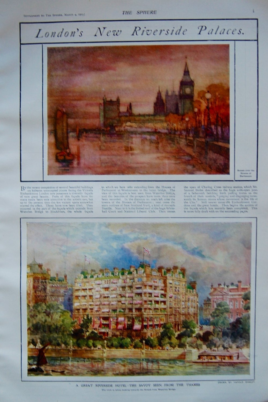 London's New Riverside Palaces. 1905