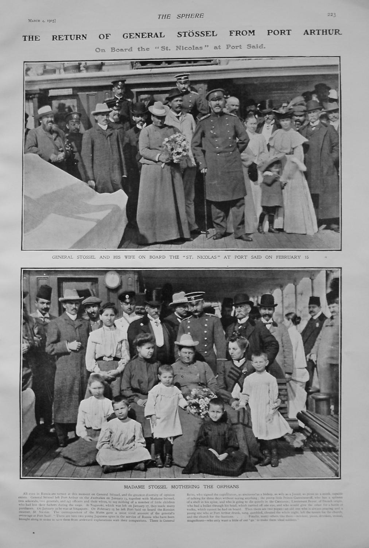 Return of General Stossel from Port Arthur. 1905
