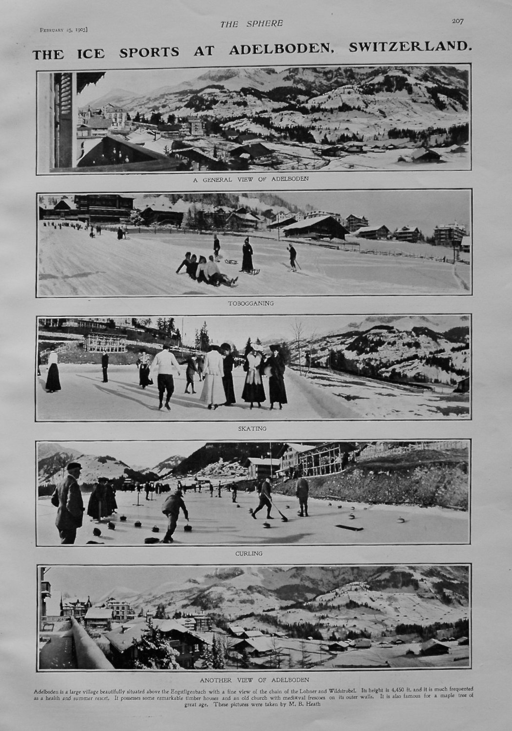 Ice Sports at Adelboden, Switzerland. 1905