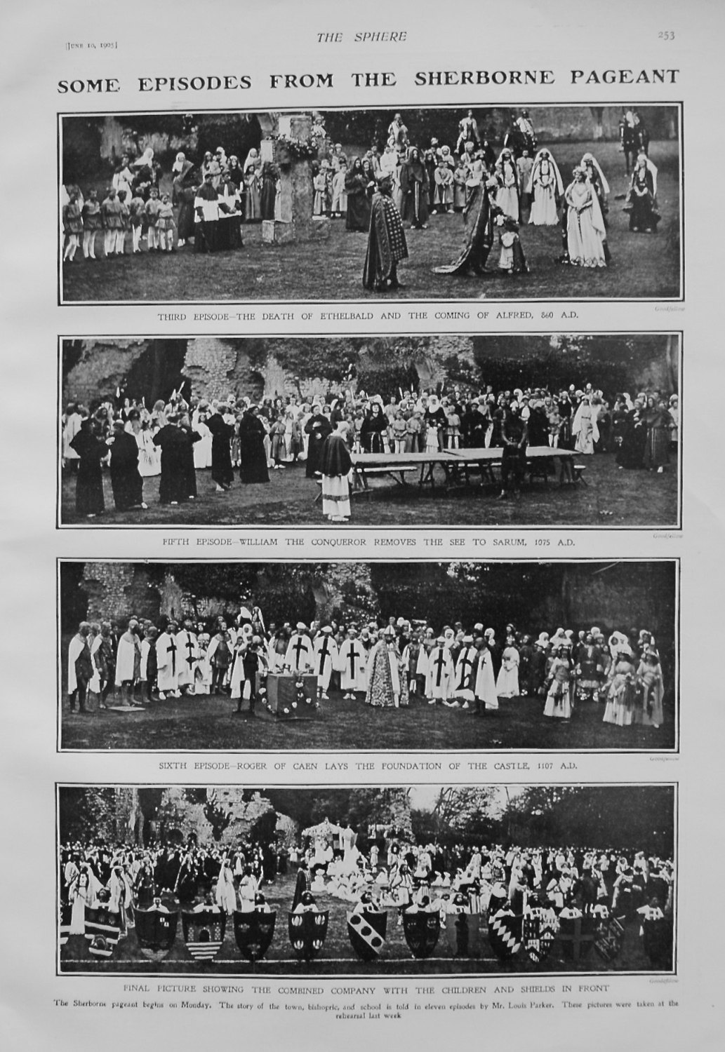 Some Episodes from the Sherborne Pageant. 1905