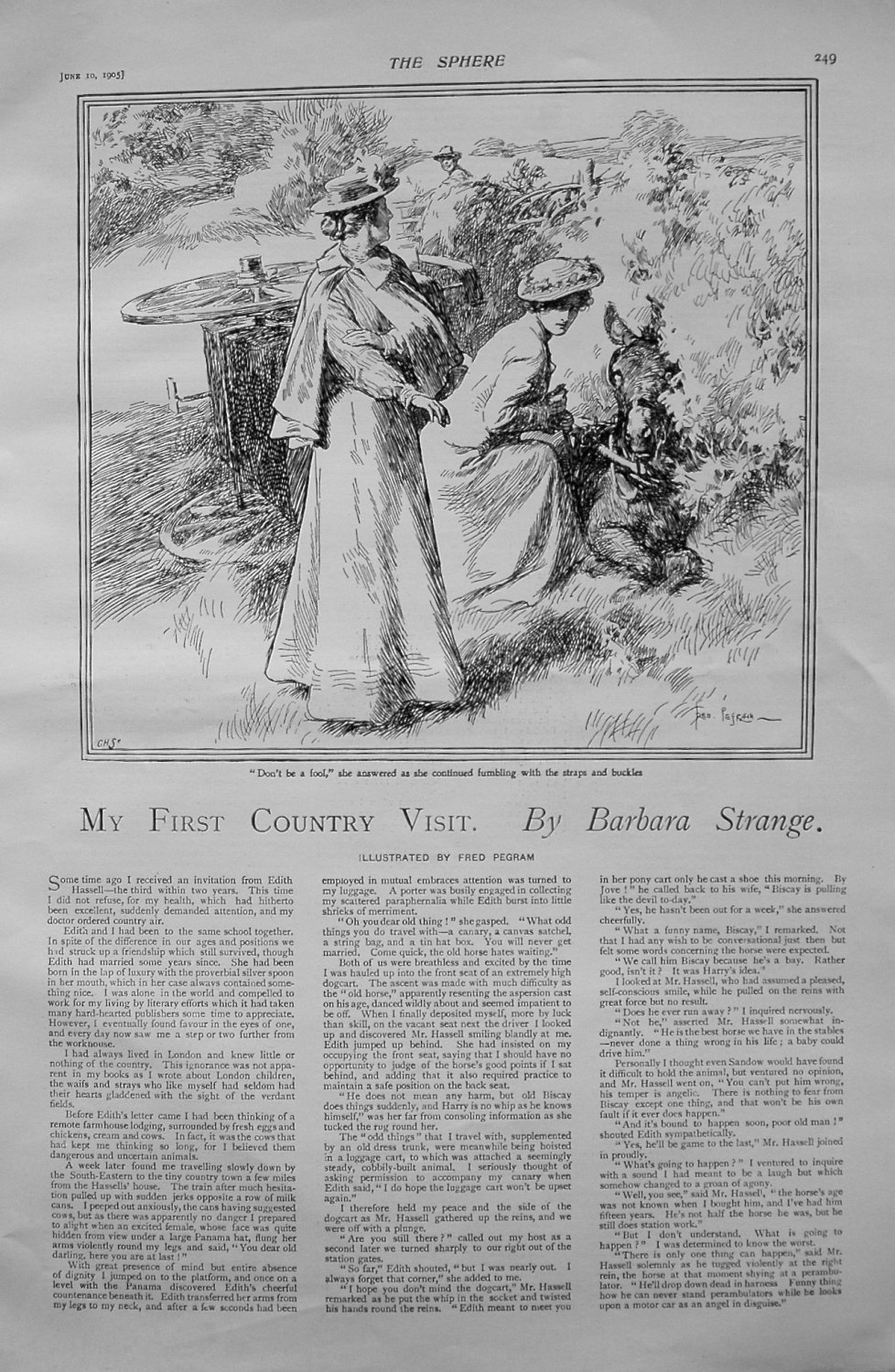 My First Country Visit. Written by Barbara Strange. 1905