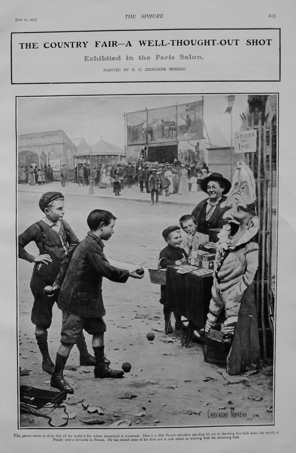The Country Fair - A Well-Thought-Out Shot. 1905