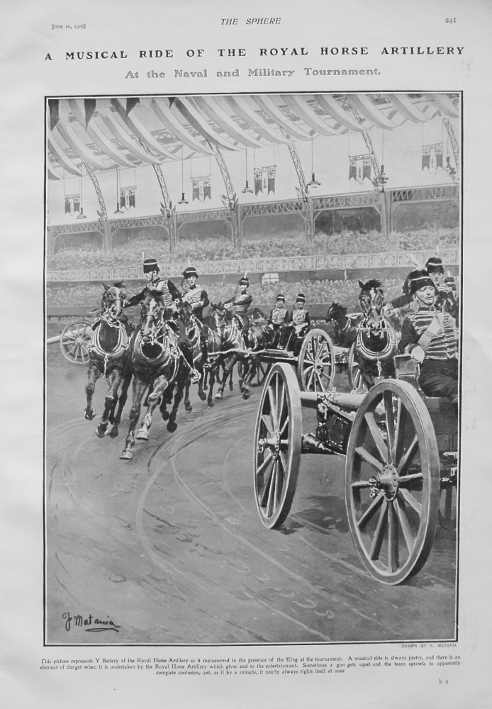 A Musical Ride of the Royal Horse Artillery at the Naval and Military Tournament. 1905
