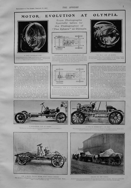 Motor Evolution at Olympia. 1905