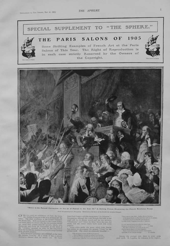 The Sphere, May 27th, 1905. (Supplement) : The Paris Salons of 1905.
