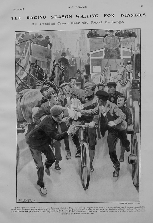 The Racing Season - Waiting for Winners. 1905