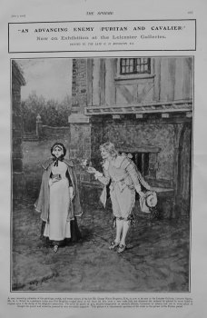 """An Advancing Enemy (Puritan and Cavalier)"" Now on Exhibition at the Leicester Galleries. 1905."