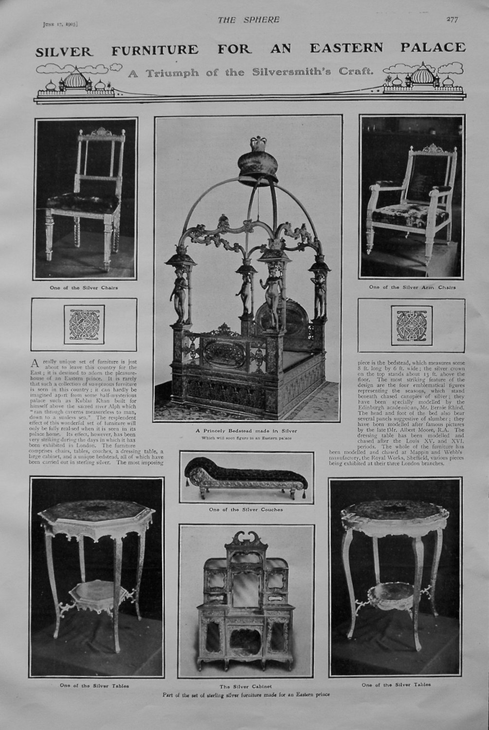 Silver Furniture For An Eastern Palace. 1905.