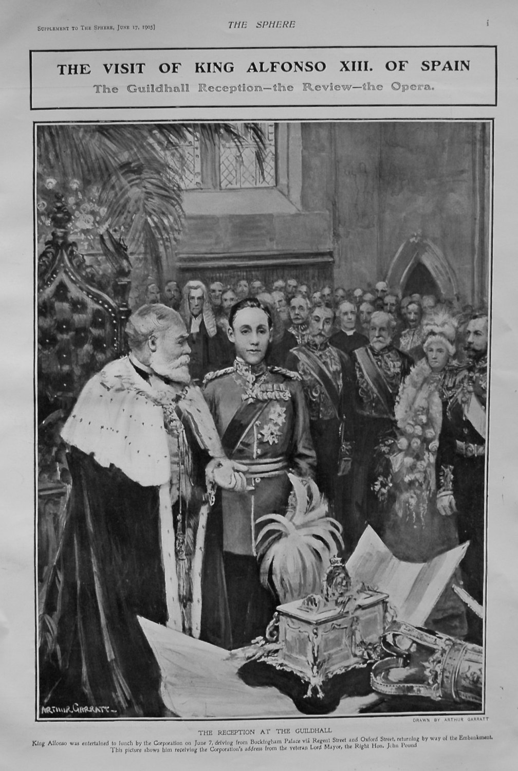 Visit of King Alfonso XIII. of Spain. 1905.