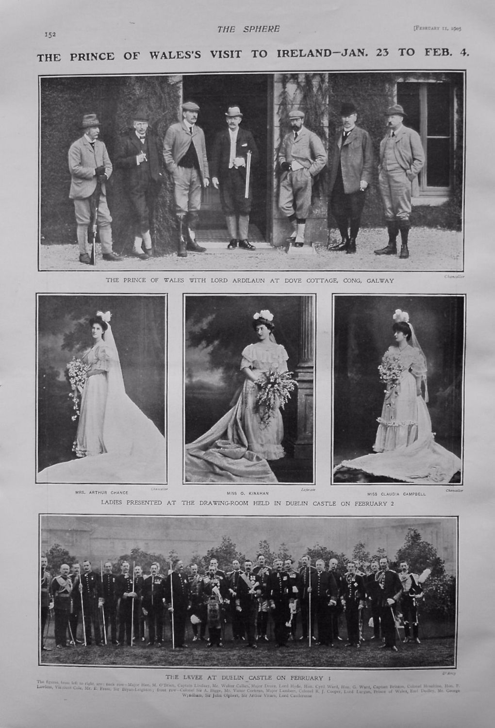 Prince of Wales's Visit To Ireland -Jan. 23 to Feb. 4. 1905.