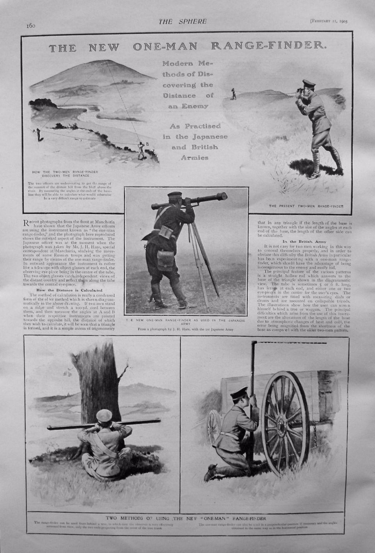 New One-Man Range-Finder. 1905