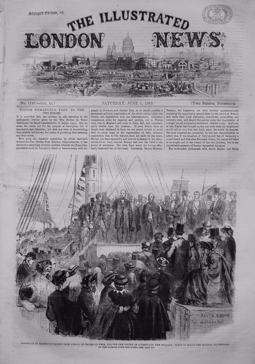 Illustrated London News, June 7th 1862.