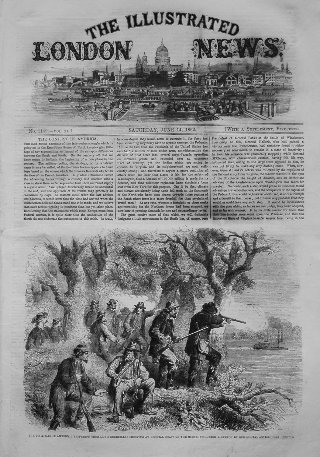 Illustrated London News, June 14th 1862.