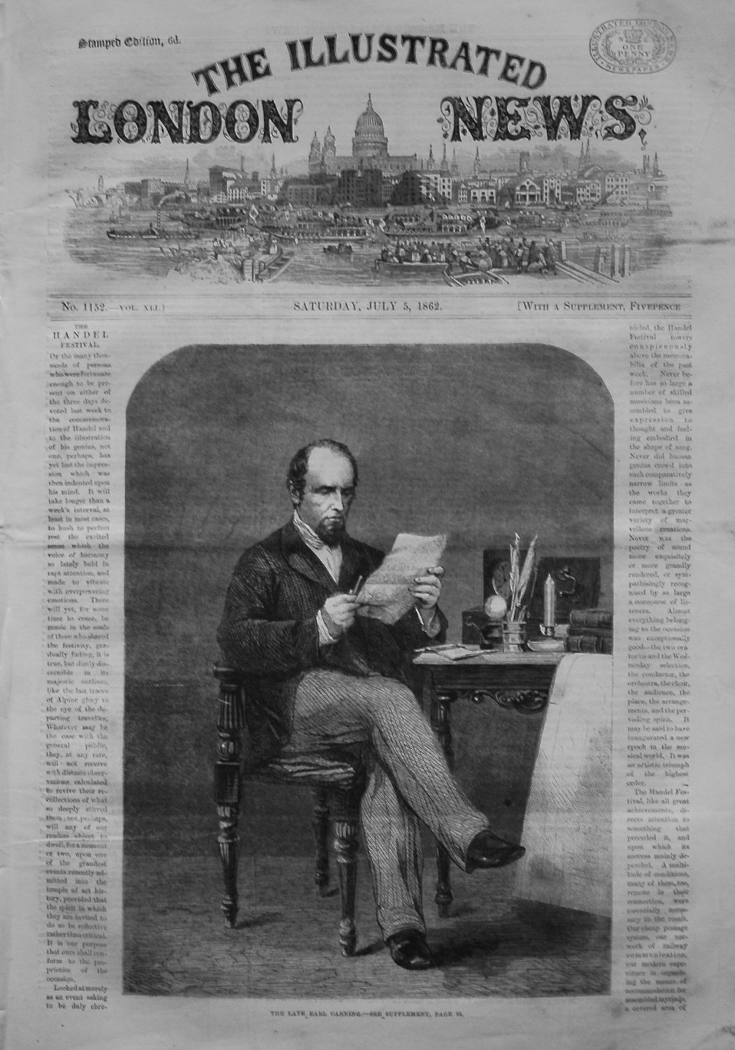 Illustrated London News, July 5th 1862.