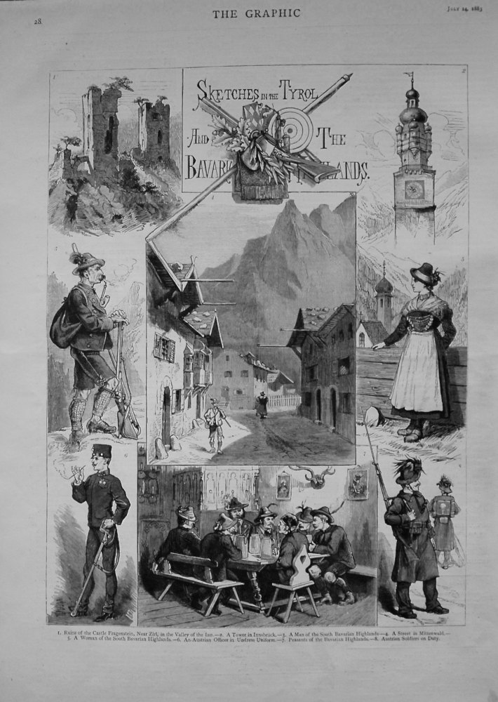 Sketches in the Tyrol and the Bavarian Highlands. 1883