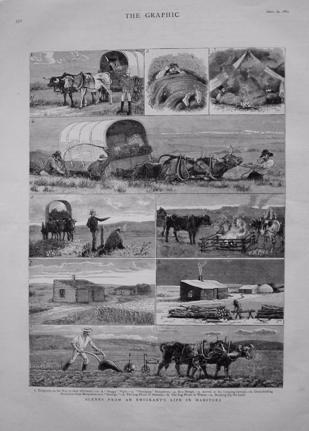 Scenes from a Emigrant's Life in Manitoba. 1883