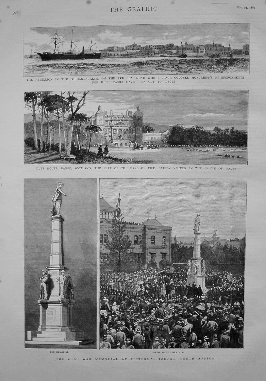 Zulu War Memorial at Pietermaritzburg, South Africa. 1883