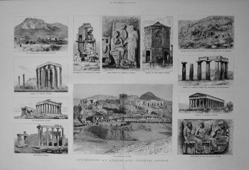 Antiquities at Athens and Corinth, Greece. 1883