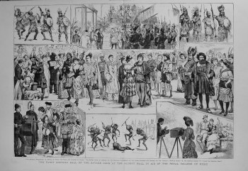Fancy Costume Ball of the Savage Club at the Albert Hall in Aid of the Royal College of Music. 1883
