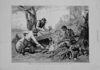 Gumming the Old Canoe : A Sketch in the Canadian Back Woods. 1883