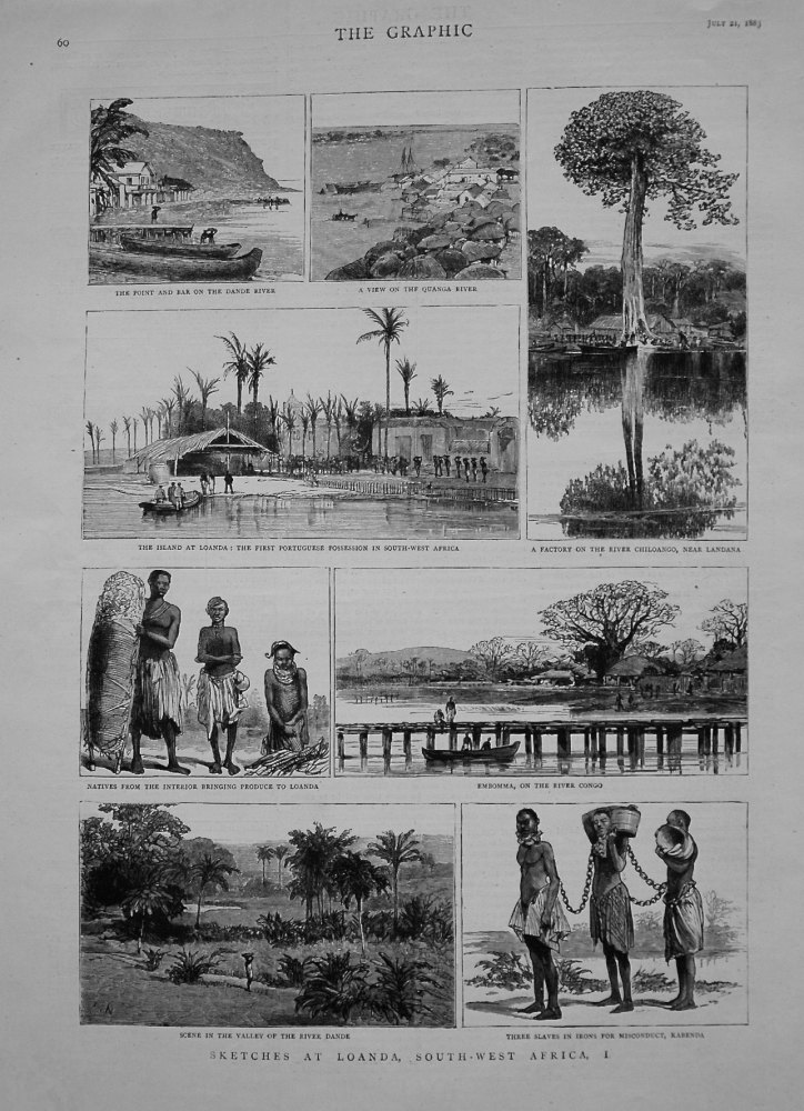 Sketches at Loanda, South-West Africa, 1.