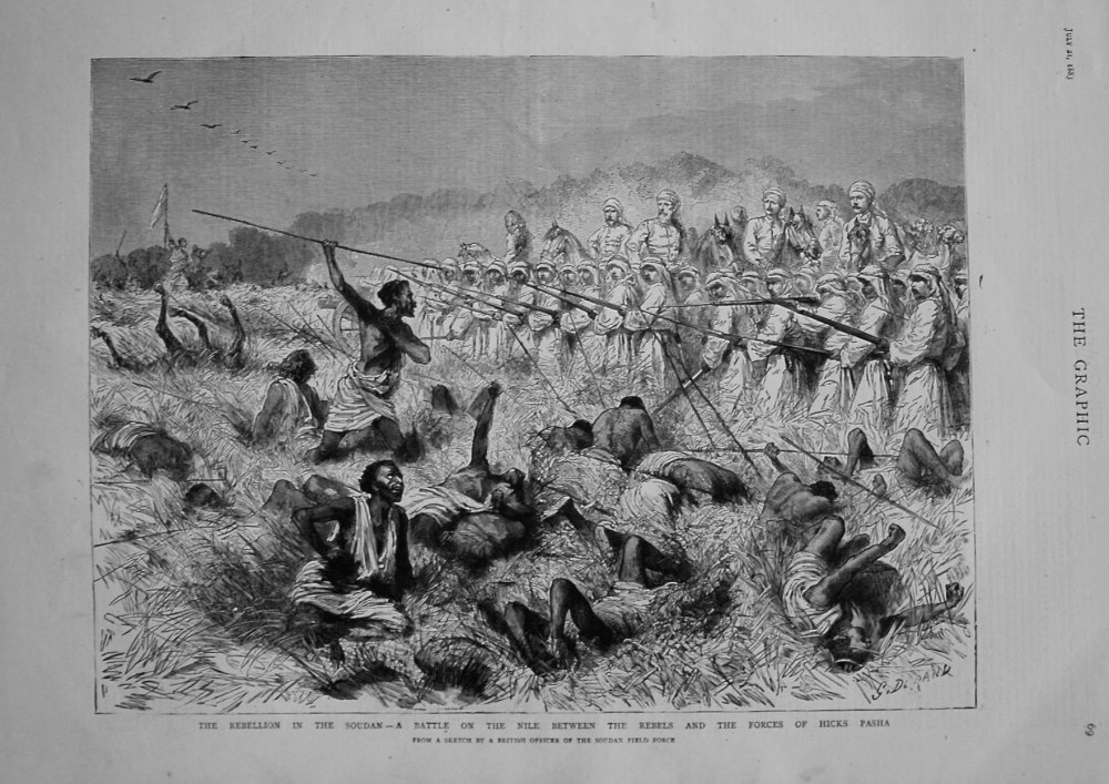The Rebellion in the Sudan - A Battle on the Nile Between the Rebels and th