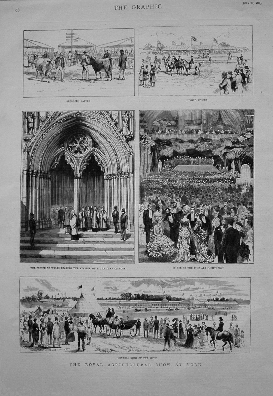 Royal Agricultural Show at York. 1883