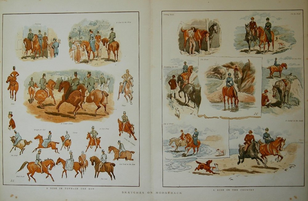 Sketches on Horseback. 1883