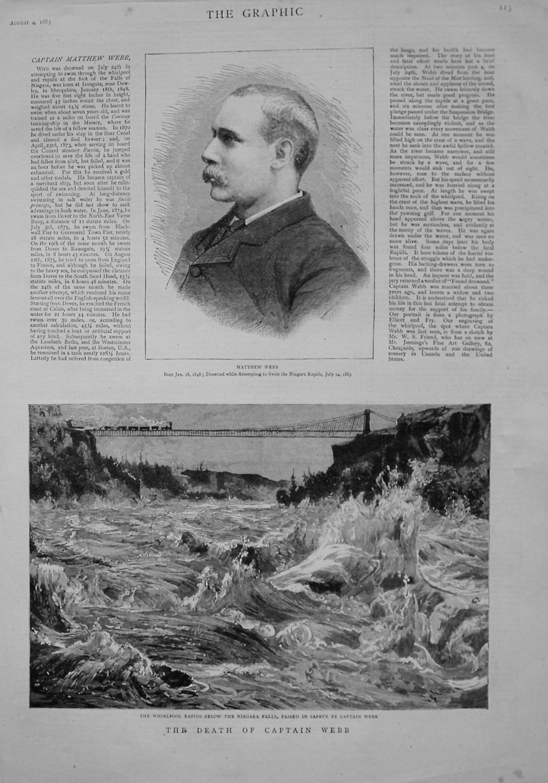Death of Captain Matthew Webb. 1883.