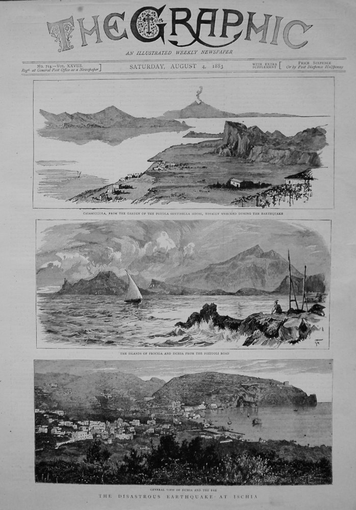 Disastrous Earthquake at Ischia. 1883