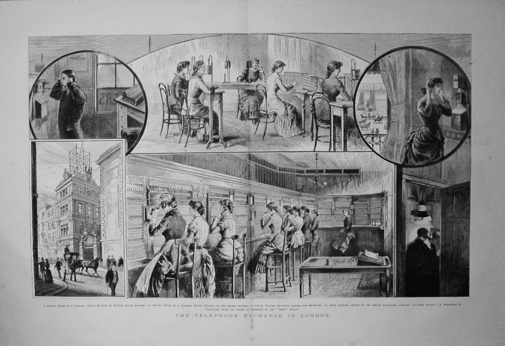 Telephone Exchange in London. 1883