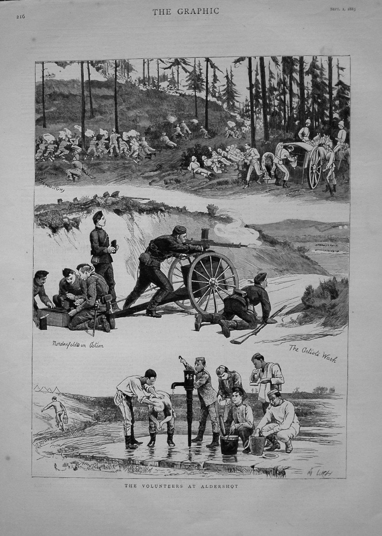 Volunteers at Aldershot. 1883