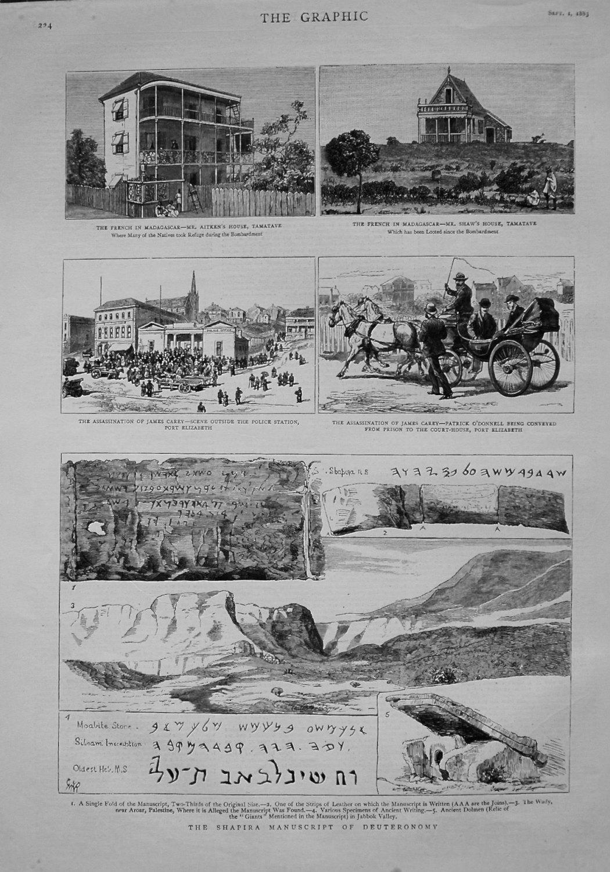 Shapira Manuscript of Deuteronomy. 1883