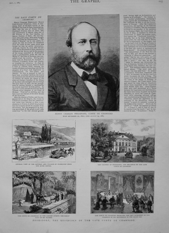 Henry Charles Comte De Chambord. 1883