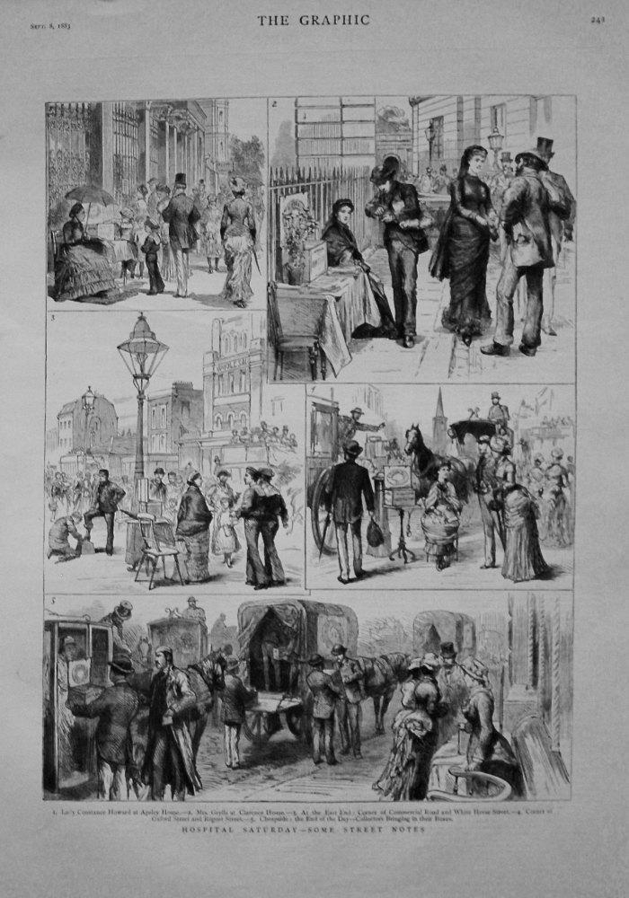 Hospital Saturday - Some Street Notes. 1883
