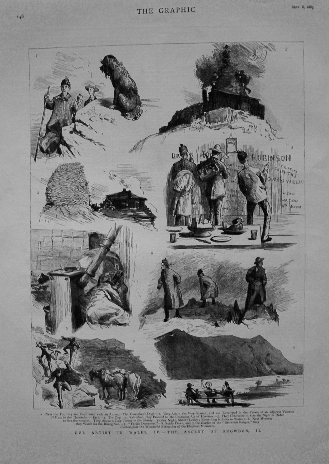 Our Artist in Wales, IV. - The Ascent of Snowdon, II. 1883
