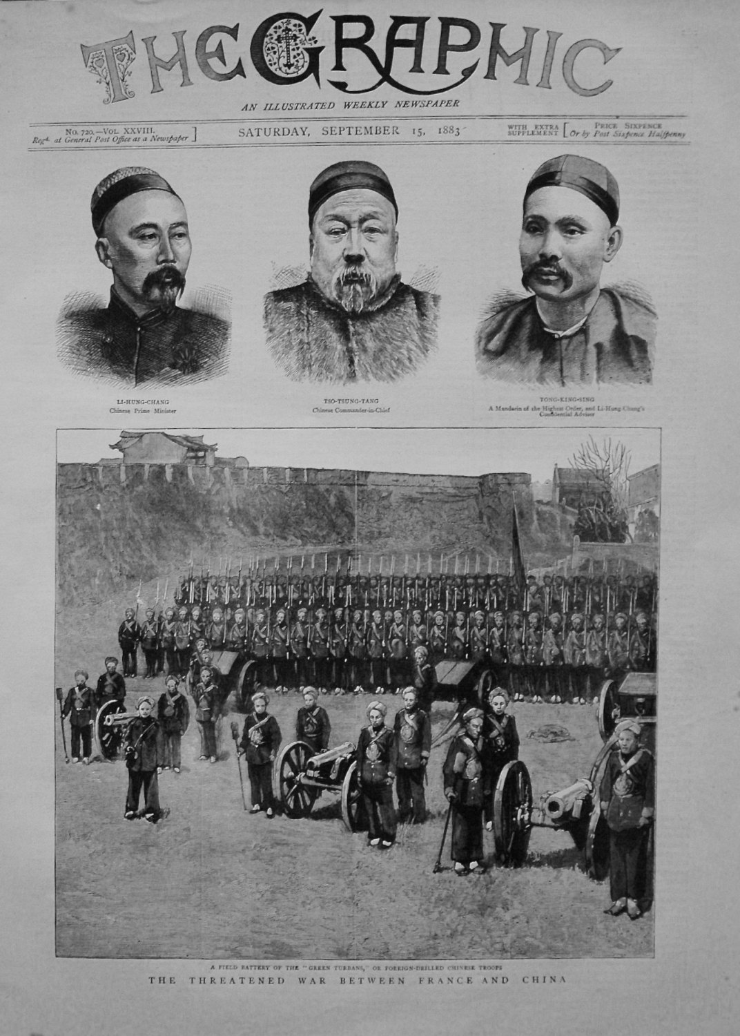 Threatened War between France and China. 1883