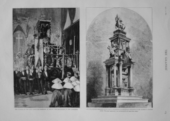 Wellington Memorial in St. Paul's Cathedral as Originally Designed by Mr. Alfred G. Stevens. 1883