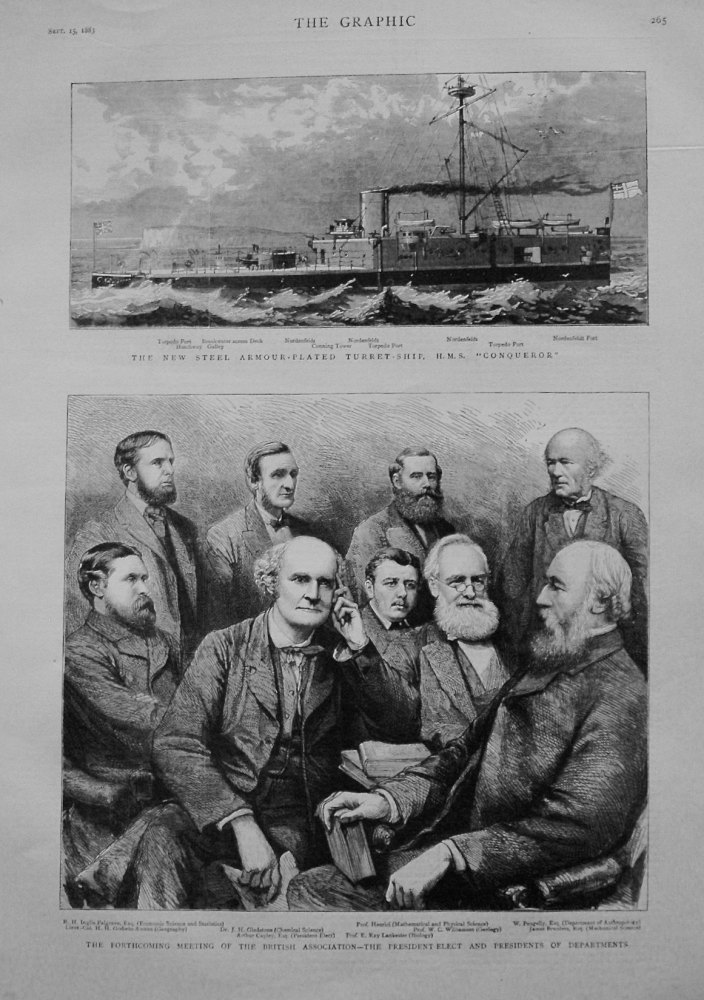 Forthcoming Meeting of the British Association - The President-Elect and Presidents of Departments. 1883