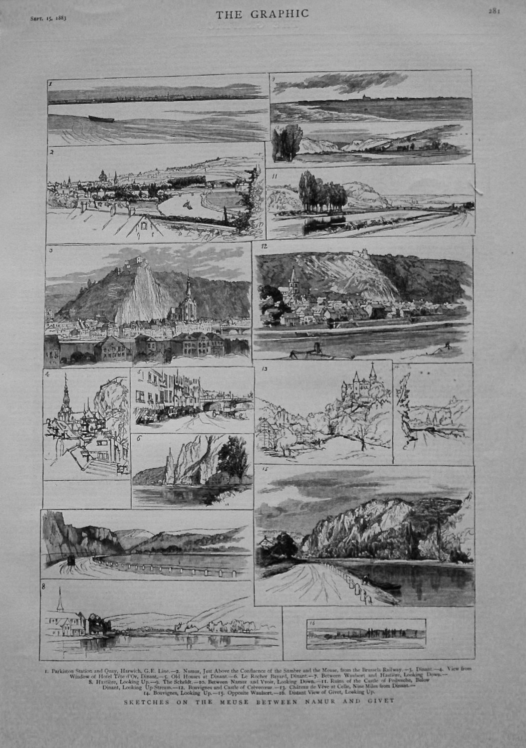 Sketches on the Meuse between Namur and Givet. 1883