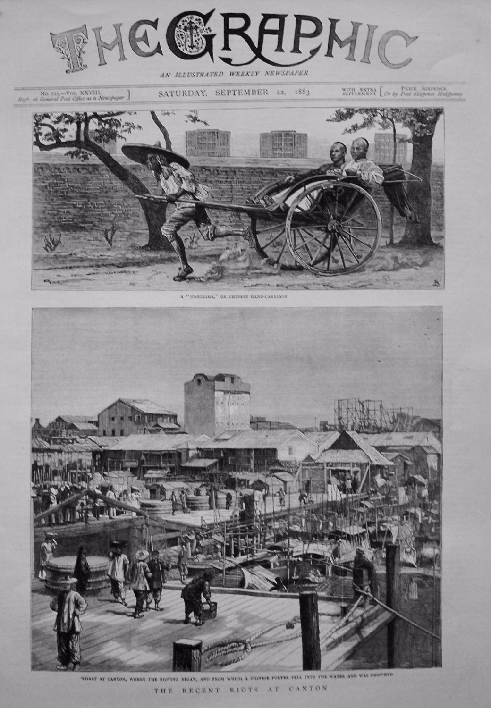 Recent Riots at Canton. 1883