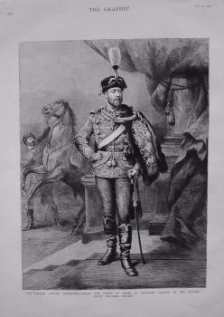 German Autumn Manoeuvres - H.R.H. The Prince of Wales as Honorary Colonel of the Blucher (Fifth Prussian) Hussars. 1883