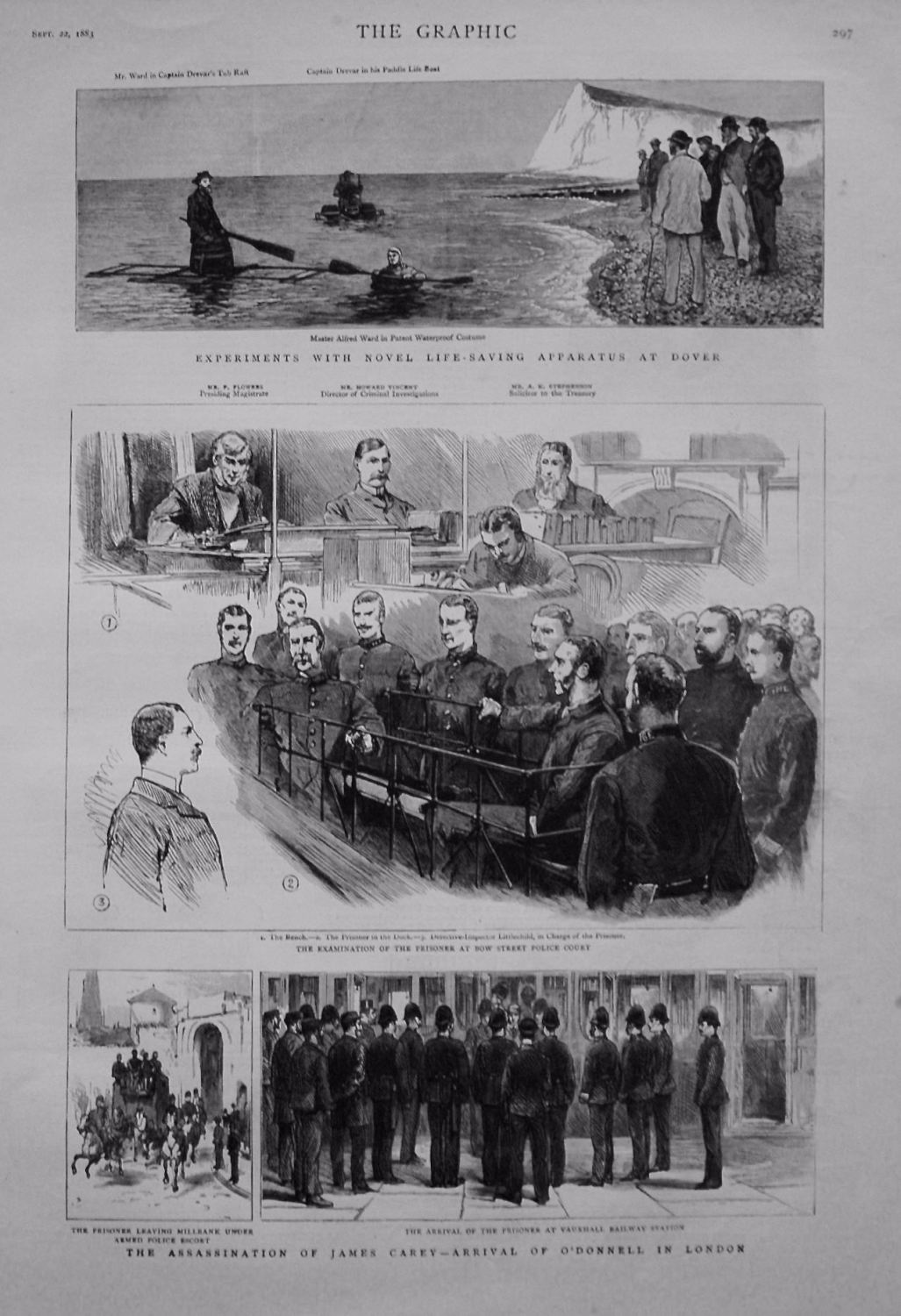 Assassination of James Carey - Arrival of O'Donnell in London. 1883