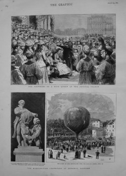 Montgolfier Centenary at Annonay, Ardeche. 1883.