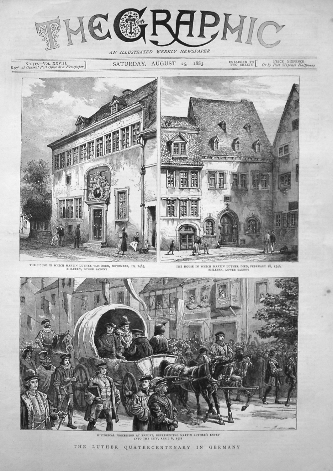 Luther Quatercentenary in Germany. 1883.